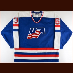 1992 C.J. Young Team USA Pre-Olympics Game Worn Jersey