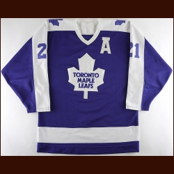 1987-88 Borje Salming Toronto Maple Leafs Game Worn Jersey - Photo Match