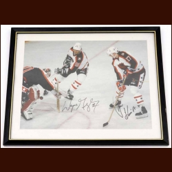 Wayne Gretzky & Jari Kurri 1989 All Star Game Autographed Photo - Edmonton All Star Game