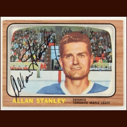 1966-67 Topps Allan Stanley Toronto Maple Leafs Autographed Card – Deceased
