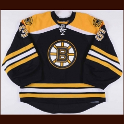 2010-11 Anton Khudobin Boston Bruins Game Issued Jersey - Team Letter