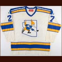 1975-77 Mike Sleep WHA Phoenix Roadrunners Game Worn Jersey