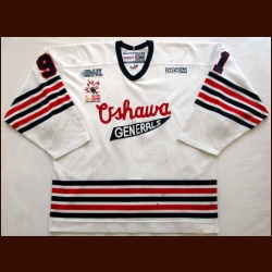 2005-06 John Tavares Oshawa Generals Game Worn Jersey - Rookie Jersey - Photo Matched - Team Letter