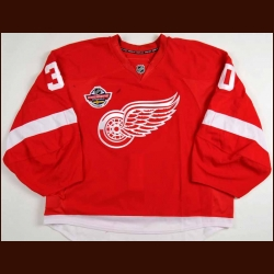 "2009-10 Chris Osgood Detroit Red Wings Game Worn Jersey - ""NHL Premiere Stockholm"" - Video Match - Team Letter"