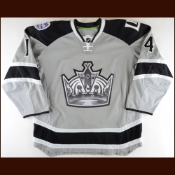 "2013-14 Justin Williams Los Angeles Kings Game Worn Jersey – ""2014 Stadium Series - Stanley Cup Season - Conn Smythe Season - Photo Match – NHL Letter"