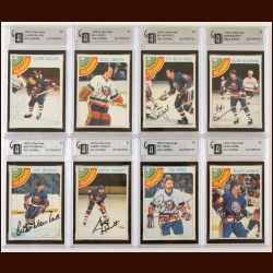 Lot of (8) 1978-79 OPC New York Islanders Autographed Cards – GAI Certified