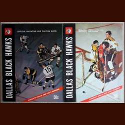 Dallas Black Hawks Official Hockey Magazine Lot of 2 - 1968-69 & 1969-70