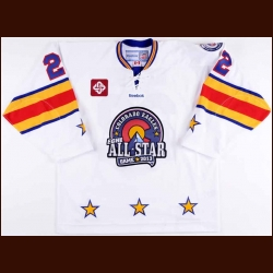 "2013 Mike Marcou ECHL All Star Game Worn Jersey - ""25-year ECHL"" - PHPA Letter"