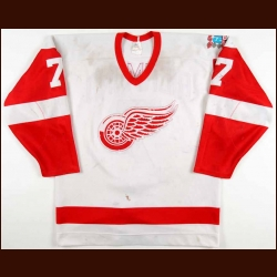 "1985-86 Steve Richmond Detroit Red Wings Game Worn Jersey – ""60-Year Anniversary - Photo Match"