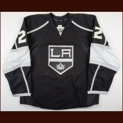 2013-14 Trevor Lewis Los Angeles Kings Game Worn Jersey - Stanley Cup Winning Season - Photo Match – Team Letter