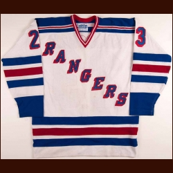 1980-82 Ed Hospodar New York Rangers Game Worn Jersey