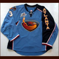 "2007-08 Kari Lehtonen Thrashers Game Worn Jersey - ""2008 All Star Game"" - Team Letter"