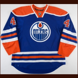 2011-12 Taylor Hall Edmonton Oilers Game Worn Jersey - Photo Match – Team Letter