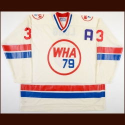 1978-79 Barry Long WHA All Star Game Game Worn Jersey - Photo Match