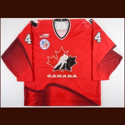 1996 Rob Blake Team Canada World Cup of Hockey Game Worn Jersey - Photo Match – NHLPA Letter