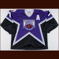 "1993-94 Chris Chelios NHL All Star Game Worn Jersey – ""1994 MSG NHL All Star"" – The Chris Chelios Collection – Chris Chelios Letter"