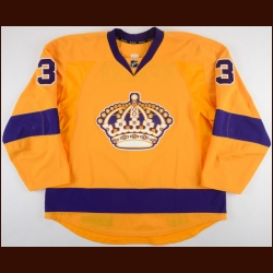 2015-16 Brayden McNabb Los Angeles Kings Game Worn Jersey – Vintage - Photo Match – Team Letter