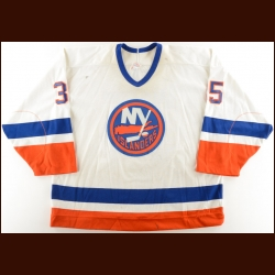 1989-90 Glenn Healy New York Islanders Game Worn Jersey – Photo Match – The Terrence Murphy Collection – Joe Murphy Letter