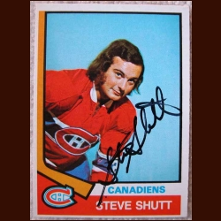 1974-75 OPC Steve Shutt Montreal Canadiens - Autographed