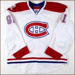 "2009-10 Scott Gomez Montreal Canadiens Game Worn Jersey - ""100-year Centennial Anniversary"" - Photo Match - Team Letter"