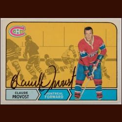 1968-69 OPC Claude Provost Montreal Canadiens Autographed Card – Deceased