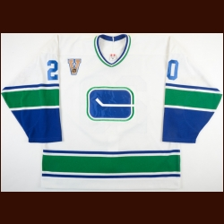 "2003-04 Ryan Kesler Vancouver Canucks Game Worn Jersey – ""V""- Vintage – Rookie"
