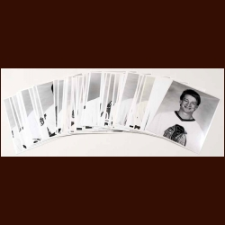 Lot of 65 Chicago Blackhawks B&W photos Mostly from the 1988-89 Season