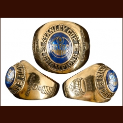 1983-84 Edmonton Oilers Stanley Cup Championship Gold Ring – First Stanley Cup Championship – Presented to Team Dentist Dr. Brian Nord