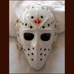 "1974-75 Jacques Plante ""Last"" Goalie Mask - Photo Matched - Plante's Wife Letter"