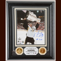 Marc-Andre Fleury Pittsburgh Penguins Autographed Display – 2009 Stanley Cup – Limited Edition #12 of 99 – Stanley Cup 2009 Hologram on back