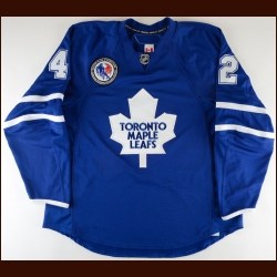 "2007-08 Kyle Wellwood Toronto Maple Leafs Game Worn Jersey – ""2007 HHOF"" - Photo Match"