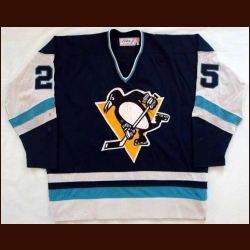 1978-79 Randy Carlyle Penguins Game Worn Jersey - Photo Matched
