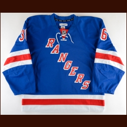 2014-15 Mats Zuccarello New York Rangers Game Worn Jersey - Photo Match – Team Letter