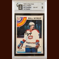 1978-79 OPC Bill Nyrop Montreal Canadiens Autographed Card – Deceased – GAI Certified
