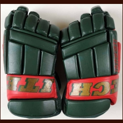 Marian Gaborik Minnesota Wild Itech Game Worn Gloves - Rookie