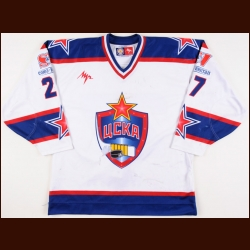 2005-06 Denis Parshin UCKA Central Red Army Game Worn Jersey