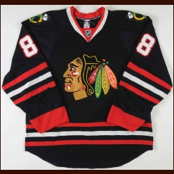 2008-09 Patrick Kane Chicago Blackhawks Game Worn Jersey - Photo Match – Team Letter