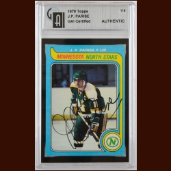 1979-80 Topps J.P. Parise Minnesota North Stars Autographed Card – Deceased – GAI Certified