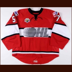 "Jake Paterson Team OHL Subway Super Series Game Worn Jersey – ""Subway Super Serier"""