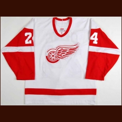 2006-07 Chris Chelios Detroit Red Wings Game Worn Jersey - Photo Match - Team Letter