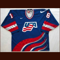 World Cup/World Juniors Game Worn #5 Jersey - Pat LaFontaine