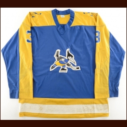1974-75 Al McLeod WHA Phoenix Roadrunners Game Worn Jersey – Inaugural Season – Defenseman of the Year