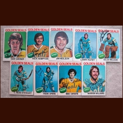 1975-76 Autographed California Golden Seals Card Group of 9