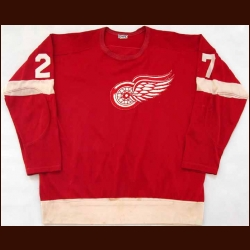 Late 1960's Frank Mahovlich Red Wings Game Worn Jersey
