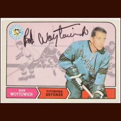 1968-69 Bob Woytowich Pittsburg Penguins Autographed Card – Deceased
