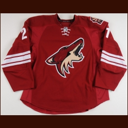 2008-09 David Hale Phoenix Coyotes Game Worn Jersey – Team Letter