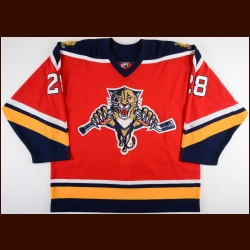 2003-04 Donald Audette Florida Panthers Game Worn Jersey – Alternate – Team Letter