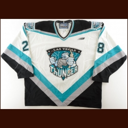 "1997-98 Brian Curran Las Vegas Thunder Game Worn Jersey – ""5-year Anniversary"" - '30-year PHPA"""