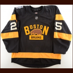 "2015-16 Maxime Talbot Boston Bruins Winter Classic Game Worn Jersey – ""2016 Winter Classic"" – Photo Match – Team/Winter Classic Letter"