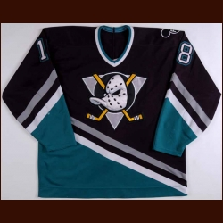 "1993-94 Garry Valk Anaheim Mighty Ducks Game Worn Jersey - Inaugural Season – ""FGW"""